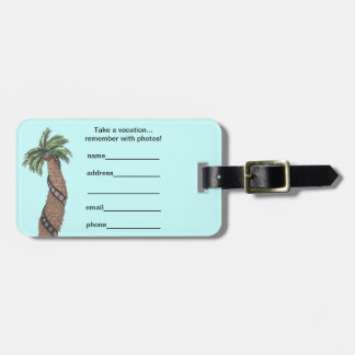Palm Tree With Film Roll Wrapped Around Luggage Ta Luggage Tag