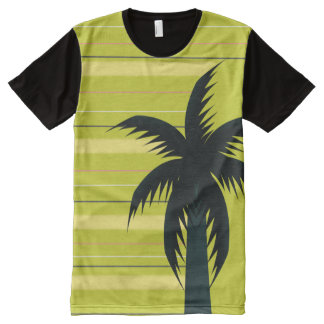 Palm tree with stripes All-Over print T-Shirt
