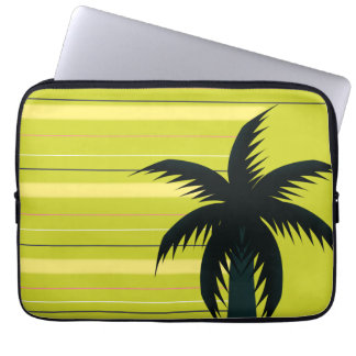 Palm tree with stripes laptop sleeve