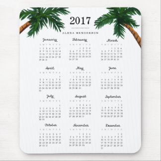 Palm Trees 2017 Calendar Mouse Pad