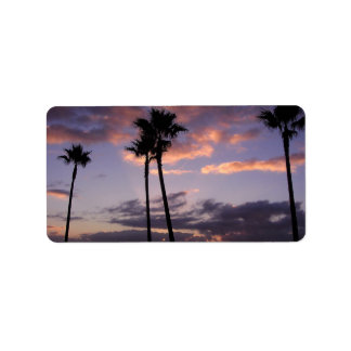 Palm Trees Address Label