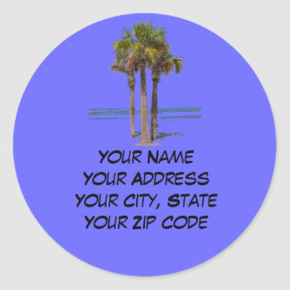 Palm Trees Address label Stickers