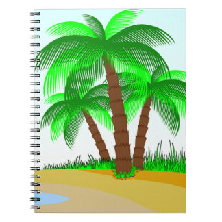 Palm Trees and Beach Spiral Notebook