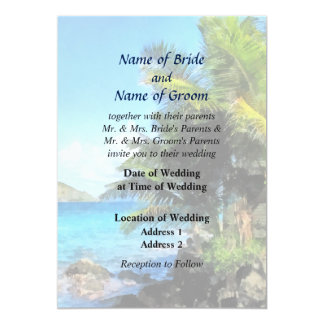 Palm Trees and Beach St Thomas VI Wedding Products Card
