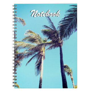 Palm Trees and Blue Sky Spiral Note Book