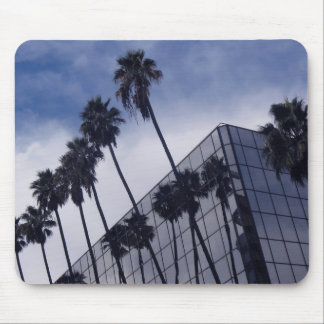 Palm Trees and Building Mouse Pad
