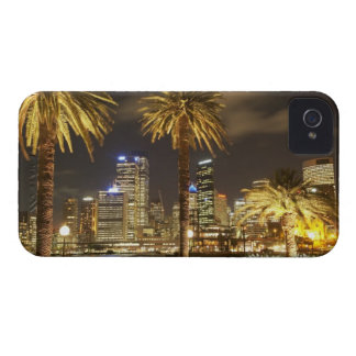 Palm Trees and CBD at Night, Sydney, New South iPhone 4 Case-Mate Case