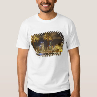 Palm Trees and CBD at Night, Sydney, New South T-shirts