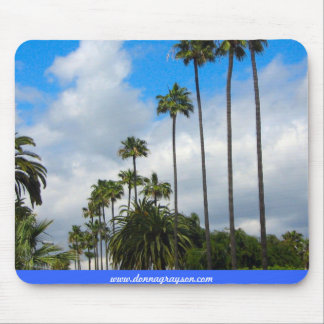 Palm Trees and Clouds Mouse Pad