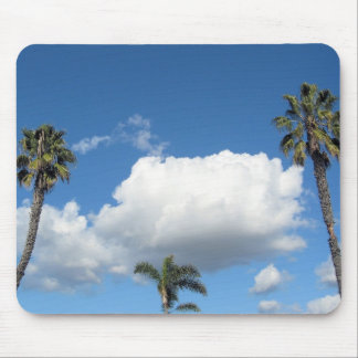 Palm trees and clouds mousepad