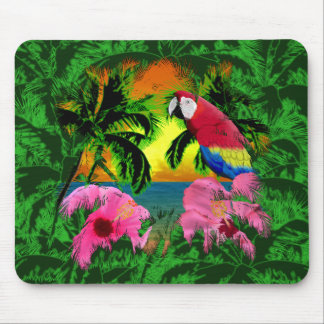 Palm Trees And Island Sunsets Mouse Pads