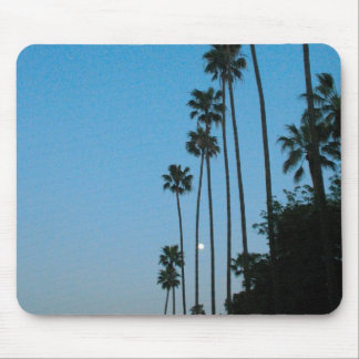 palm trees and moon mousepad