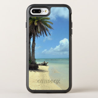 Palm Trees and Sand Scenic Island OtterBox Symmetry iPhone 8 Plus/7 Plus Case