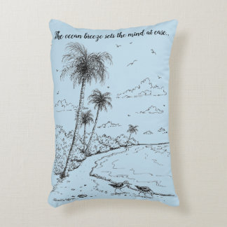 Palm Trees and Sandpiper Beach Life Decorative Cushion