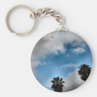 palm trees and sky keychains