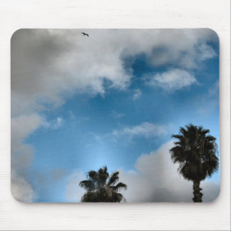 palm trees and sky mouse pad