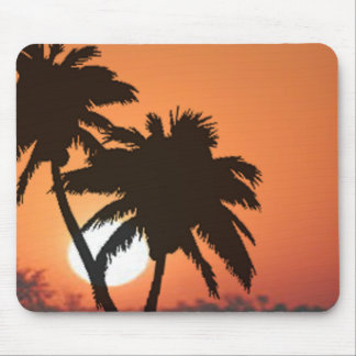 Palm Trees and Sunset Mouse Pad
