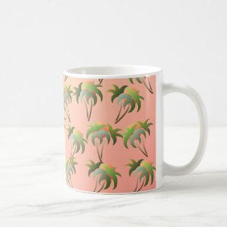 Palm Trees and Sunset Pattern Coffee Mug