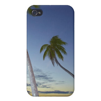 Palm trees and sunset, Plantation Island Resort Cover For iPhone 4