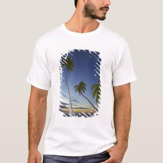 Palm trees and sunset, Plantation Island Resort T-Shirt