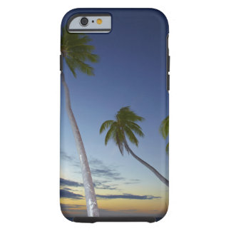 Palm trees and sunset, Plantation Island Resort Tough iPhone 6 Case