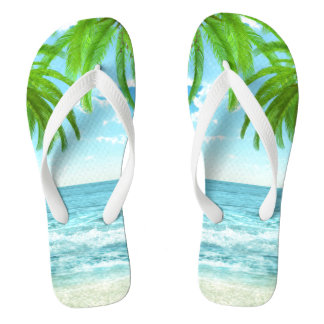 Palm Trees and Tropic Breeze Thongs