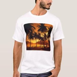 Palm trees at night Barbados T-Shirt