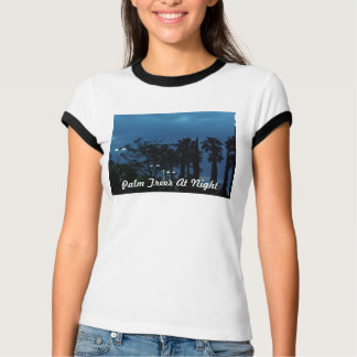 Palm Trees At Night Tshirt