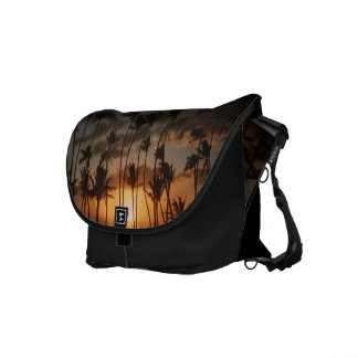 Palm Trees at Sunset Courier Bags