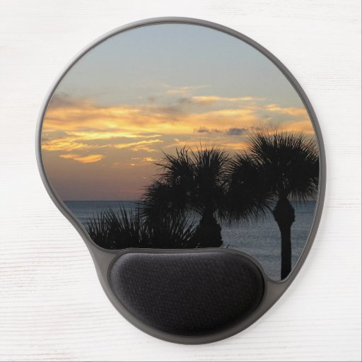 Palm Trees at Sunset Gel Mousepads