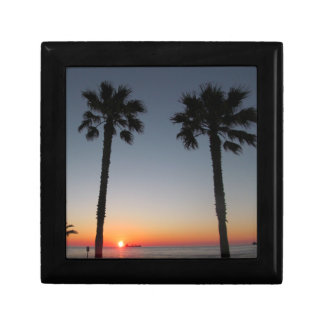 Palm trees at sunset gift box