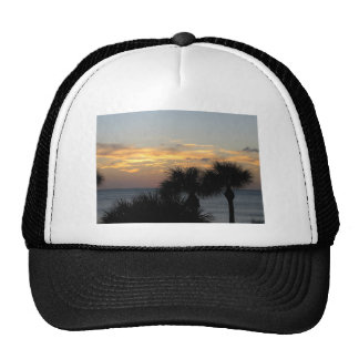 Palm Trees at Sunset Trucker Hats