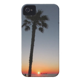 Palm trees at sunset iPhone 4 Case-Mate case