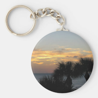 Palm Trees at Sunset Keychain