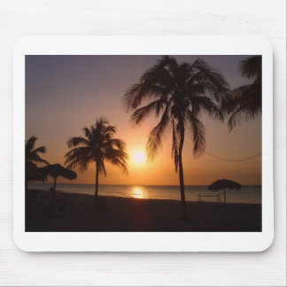 Palm trees at sunset mousepads