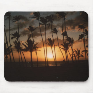 Palm Trees at Sunset Mouse Pads