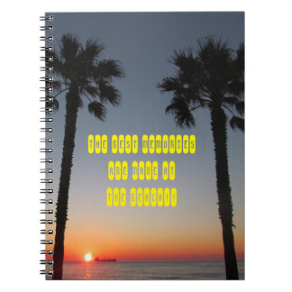 Palm trees at sunset notebooks