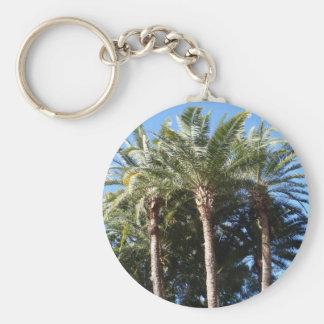 Palm Trees Basic Round Button Key Ring