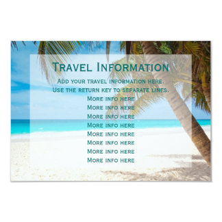 Palm Trees Beach Destination Wedding Travel Cards