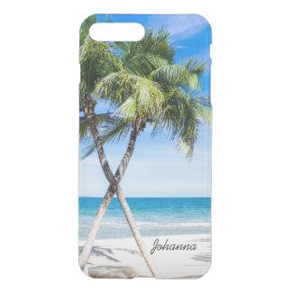 Palm Trees Beach Tropical iPhone 7 Clear Case