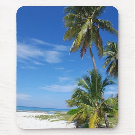Palm Trees, Cayman Mousepad