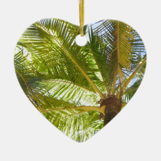 Palm Trees Ceramic Heart Decoration