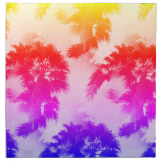 Palm trees cloth napkins