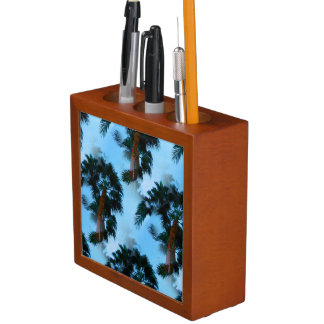 Palm trees desk organizer