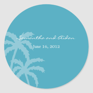 Palm Trees Favor Sticker or Envelope Seal
