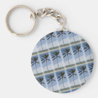 Palm Trees Galore! Basic Round Button Key Ring
