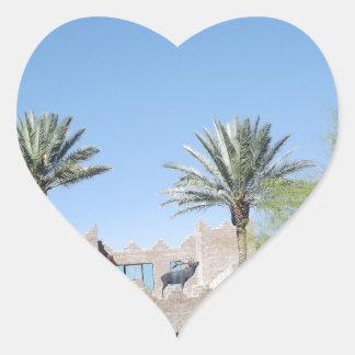 Palm Trees Heart Sticker