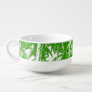 Palm Trees in a Posterised Design Soup Mug