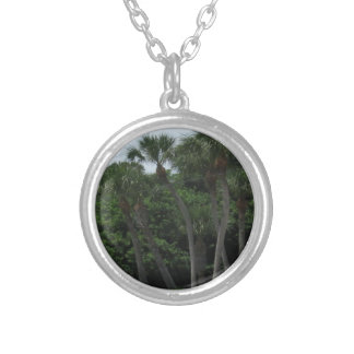 Palm Trees In The City Custom Necklace