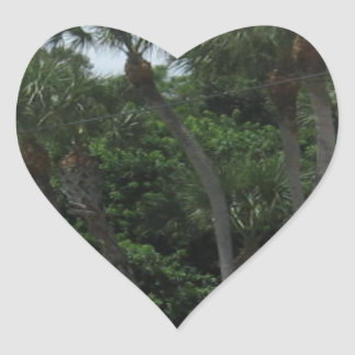 Palm Trees In The City Heart Stickers